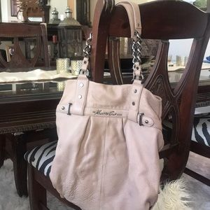 Kenneth Cole New York Beige Leather Bag
